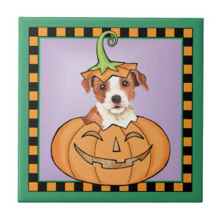 Halloween ParsonRussell Terrier Kakelplatta