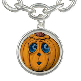 Halloween pumpa berlockarmband
