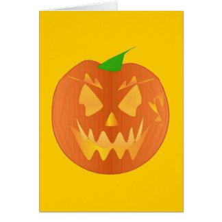 Halloween pumpa i guld hälsnings kort