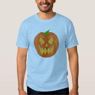 Halloween pumpa i ljust - blått tee shirt
