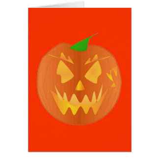 Halloween pumpa i orange hälsningskort