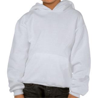 Halloween pumpa i vit sweatshirt