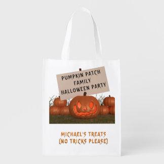Halloween pumpa lappar personligfest hänger lös återanvändbara kassar