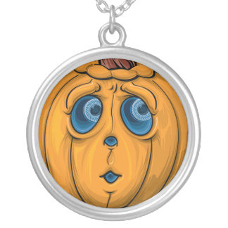Halloween pumpa silverpläterat halsband