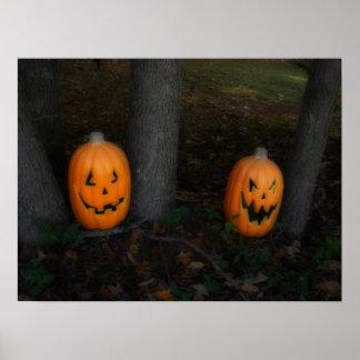 Halloween pumpaaffisch poster