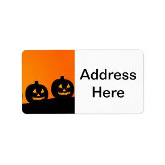 Halloween pumpor adressetikett