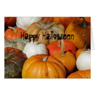 Halloween pumpor hälsningskort