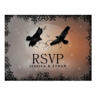 Halloween Ravens bröllopet OSA som matchar Vykort