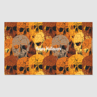 Halloween Rektangulärt Klistermärke