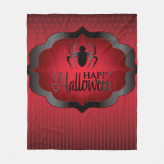 Halloween röd spindel fleecefilt