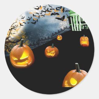 Halloween Runt Klistermärke