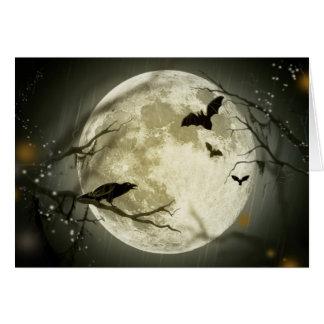 Halloween semestrar gåta med sagamånen OBS kort