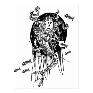 Halloween sjöjungfru vykort