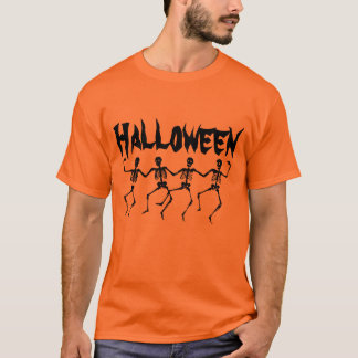 Halloween skelettT-tröja T-shirt
