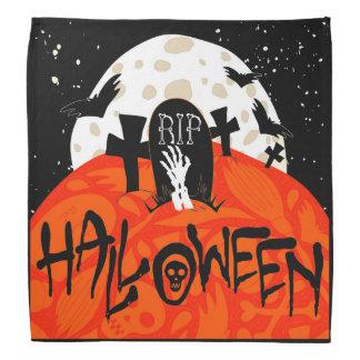Halloween slår till den spöklika kyrkogården scarf
