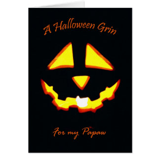 Halloween som är flin för Papaw Hälsningskort