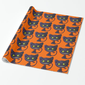 Halloween som grinar den svart katten presentpapper