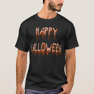 Halloween som lider text t shirt