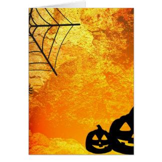 Halloween spindel och pumpor hälsningskort