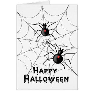 Halloween spindelkort - TBA Hälsningskort