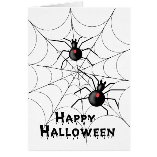 Halloween spindelkort - TBA Kort