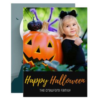 Halloween spökade huset på kort för 12,7 x 17,8 cm inbjudningskort