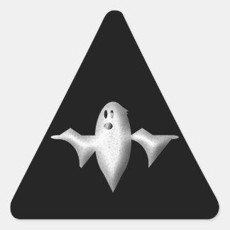 Halloween spöke triangelformat klistermärke