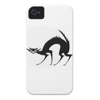 Halloween svart katt i månsken iPhone 4 Case-Mate skydd