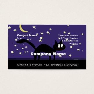 Halloween svart katt på staket visitkort