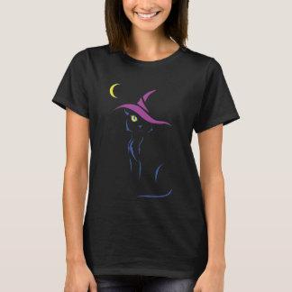Halloween svart katt t-shirt