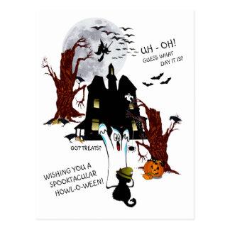 Halloween - Uh Oh gissning vilken dag det är Vykort