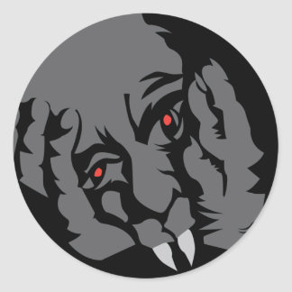 Halloween vampyrklistermärkear runt klistermärke