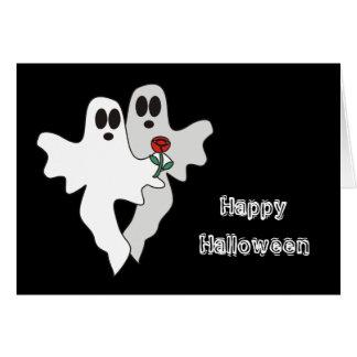 Halloween varar spökskrivareare kortet hälsningskort