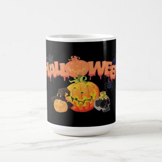 Halloween Vit Mugg