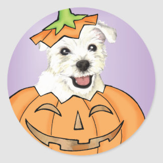 Halloween Westie Runt Klistermärke