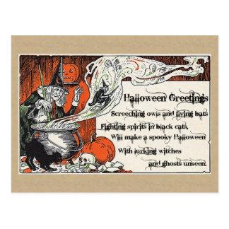 Halloween Witcheryvykort, Halloween vykort