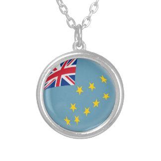 "Halsband + 18"" kedjar den Tuvalu flagga"