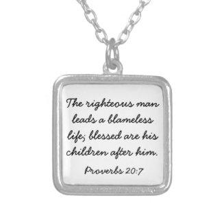 Halsband för 20:7 för Proverbs för fars dagbibelve