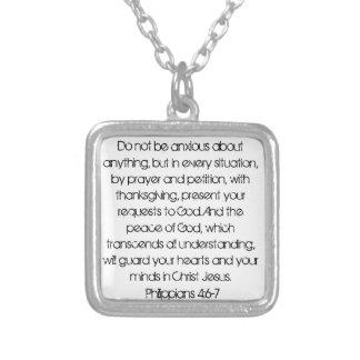 Halsband för 4:6 för Philippians för uppmuntranbib