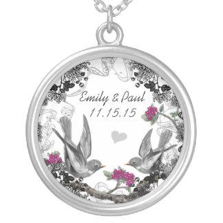 Halsband för årsdag för fåglar för bröllopvintage