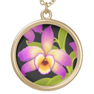 Halsband för blomma för DendrobiumNobile Orchid