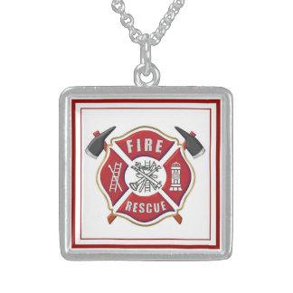 """Halsband """"för brandman"""" sterling silverhänge"""