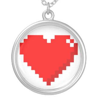 halsband för hjärta 8bit