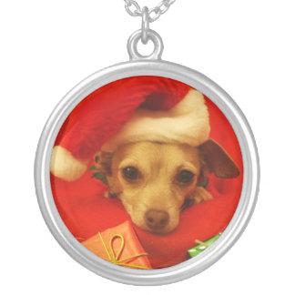 Halsband för jul för ChihuahuaSanta hatt