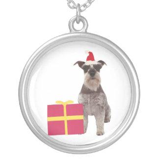 Halsband för jul för SchnauzerSanta hatt