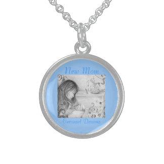 Halsband för runda för karuselldrömsterling silver