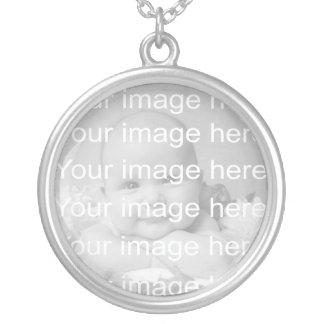 Halsband för sterling silverbabyfoto