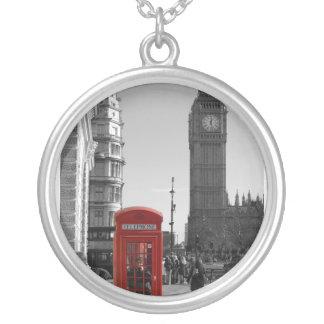 Halsband för stora Ben London rundasilver