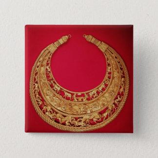 Halsband med herde- platser standard kanpp fyrkantig 5.1 cm