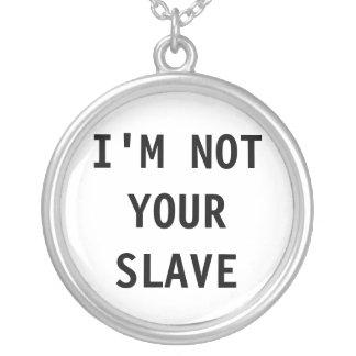 Halsband mig förmiddag inte ditt slav-